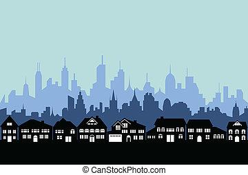 Vorstadt und Stadt