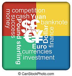 währungen, begriff, finanziell, major