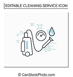 wäsche, ikone, druck, linie