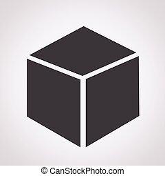 würfel, 3d, ikone