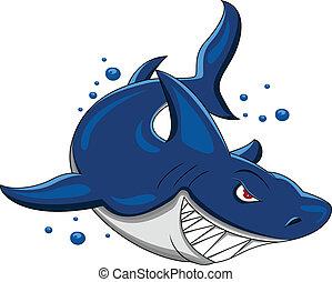 Wütender Hai