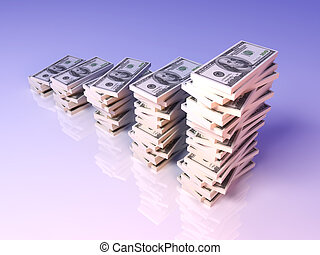 wachstum, dollar, gewinn