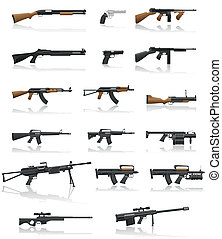 Waffe und Waffe sind Sammlungs-Ikonen