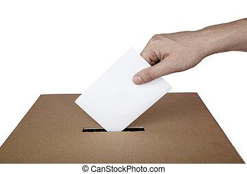 Wahl der Wahlboxen für die Politik wählen.