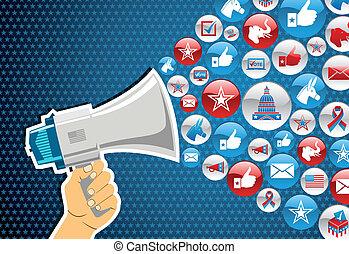 Wahlen in den USA: politische Botschaftsförderung