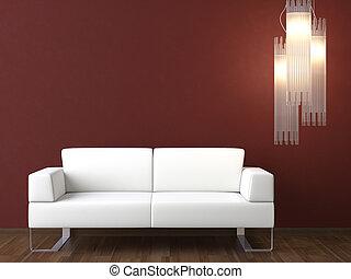 wand, couch, design, inneneinrichtung, weißes, bordeaux