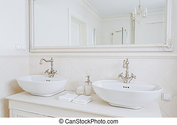 waschbecken, badezimmer, retro, entworfen