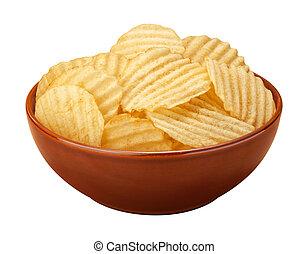 Wavy-Chips in einer Schüssel