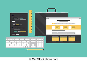 Web-Codierung und Programmierung flache Illustration