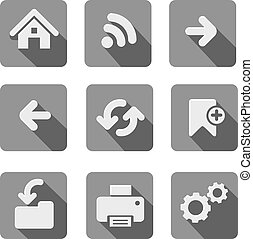Web Icon Set.