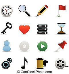 Web icons Vektor