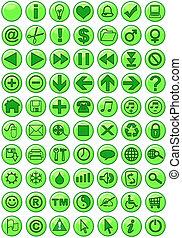 Web-Ikonen in Grün