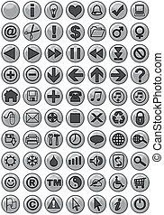 Web-Ikonen in Silber