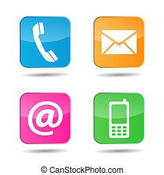 Web kontaktieren Sie uns Icons