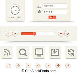 Web-Player-Interface-Schalter