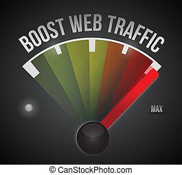 web, speedometer., abbildung, design, verkehr, ankurbeln