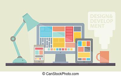 Webdesign Illustration