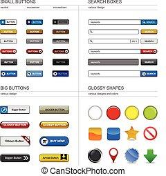 Webdesign-Knopfelement