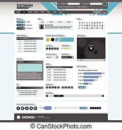 Webdesign-Websiteelement-Temperatur