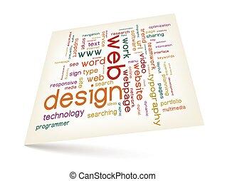 Webdesign Wortwolke.