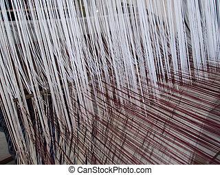 Webfaden für die Textilindustrie.