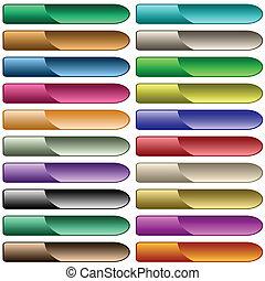 Webknöpfe 20 glänzende Farben