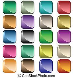 Webknöpfe mit verschiedenen Farben