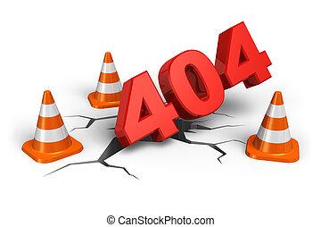 webpage, 404, begriff, fehler