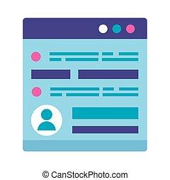 webpage, schnittstelle, benutzer