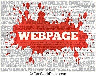 Webpage-Wort-Collage.
