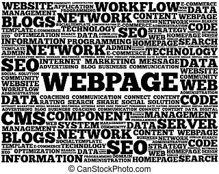 Webpage Wortwolke.