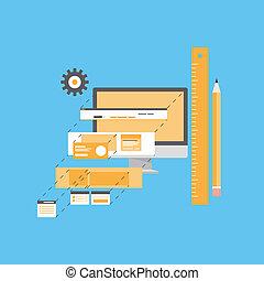 Website-Entwicklung flache Illustration