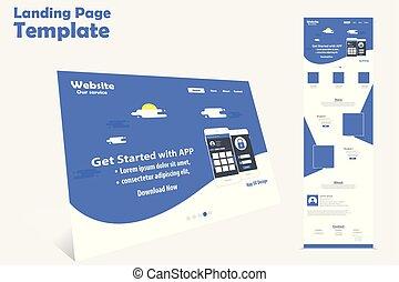 Website Landing Seite Vektor Vorlage Design.