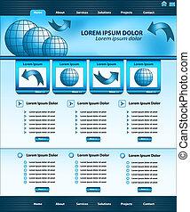 Website Template Design blau