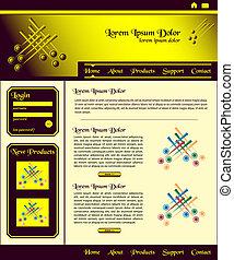 Website Template Design braunes Gold