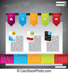 Website Template Design mit Produkten
