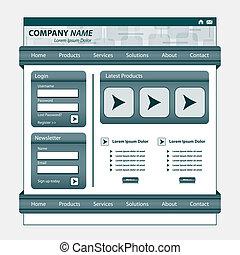 Website Template Grau