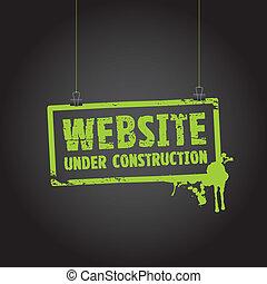 Website unter Bauzeichen.