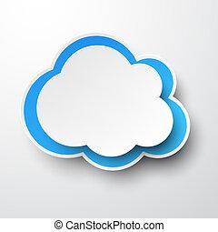 Weißblaue Wolke.