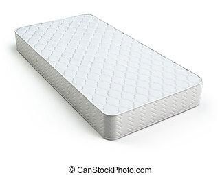 Weiße Matratze auf weiß.