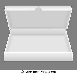 Weiße, offene Verpackungs-Illustration