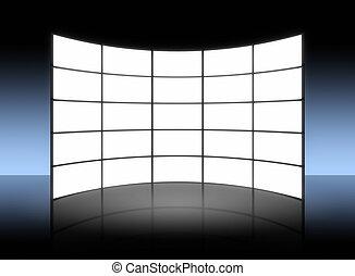 Weiße TV-Panel