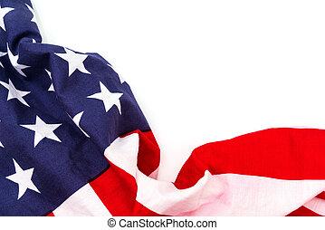weißer hintergrund, fahne, amerikanische