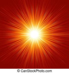 Weißer Stern, isoliert im roten Raum. EPS 8