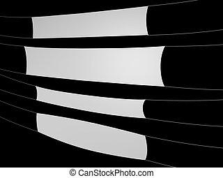 Weißes Banner auf schwarzem Hintergrund