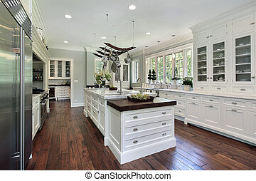 weißes, cabinetry, kueche