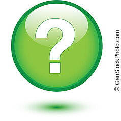 Weißes Fragezeichen auf Grün