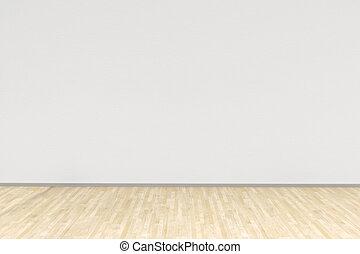 Weißes Zimmer mit Hartholzboden