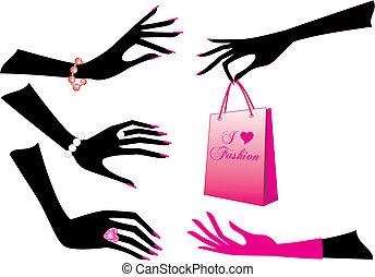 Weibliche Hände, Vektor