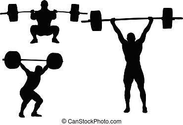 weightlifting, silhouetten